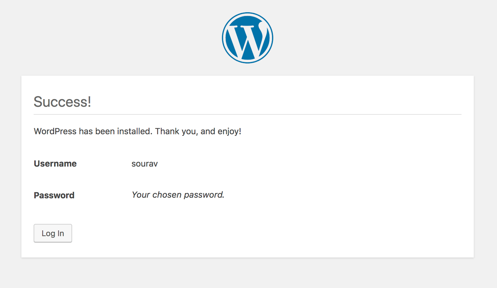 installera wordpress på digitalocean