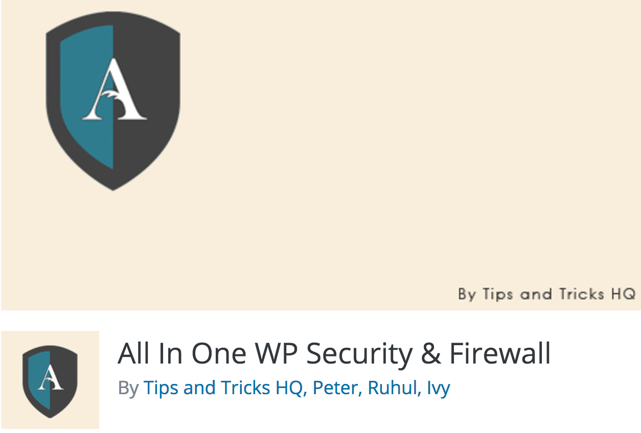 All in Once WP Security & Firewall-plugin.