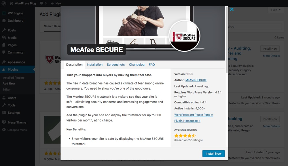 McAfee SECURE Plugin Installation