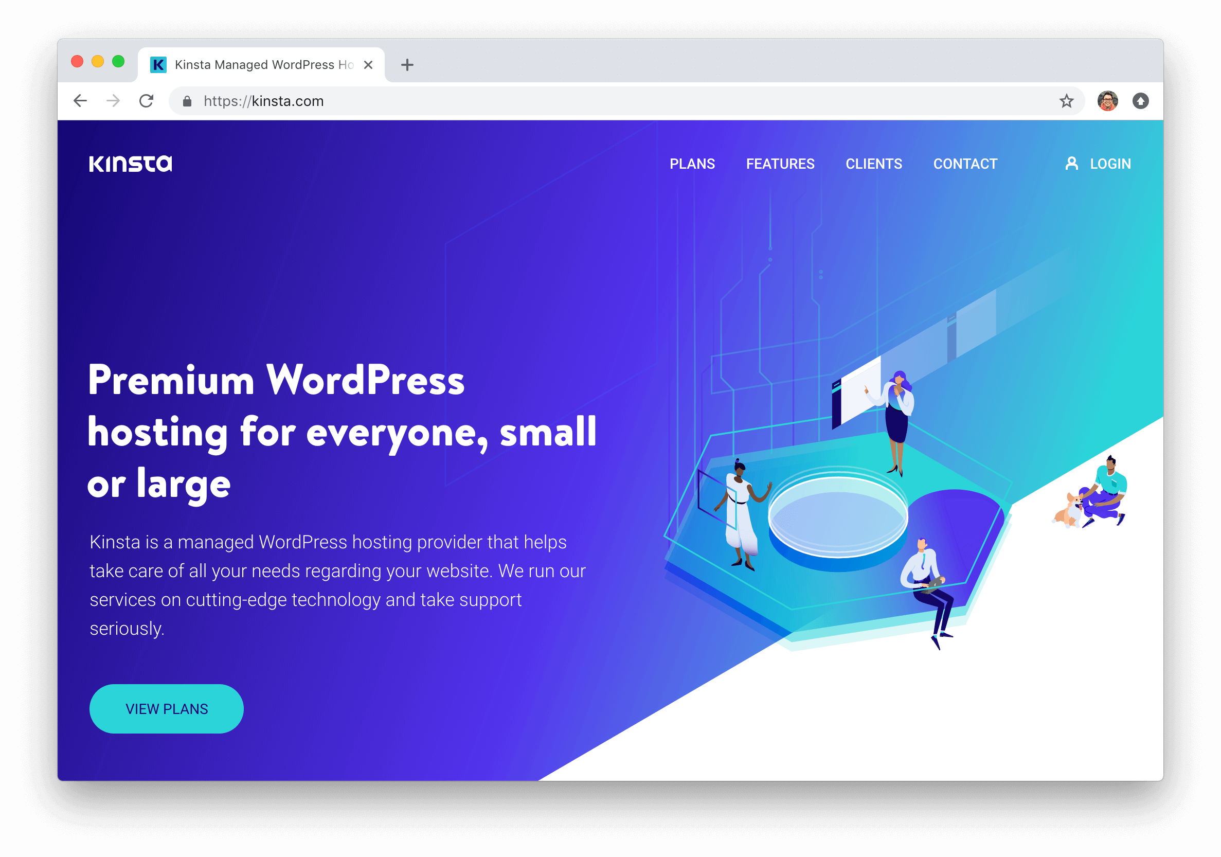 kinsta spravoval hosting WordPress