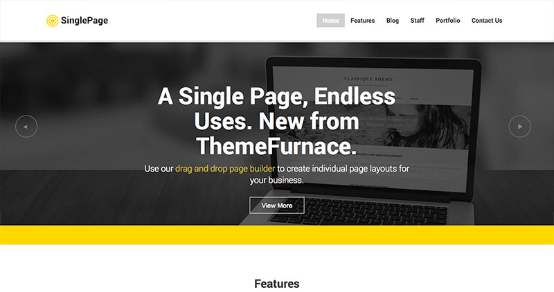 single-page-wp-theme