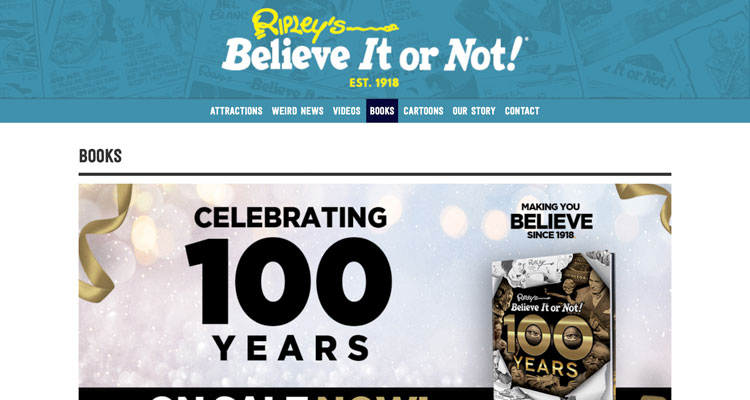 Kedai eCommerce The Ripley's Believe It or Not.