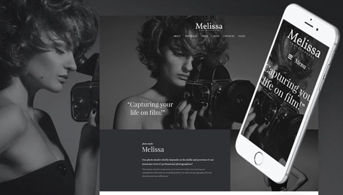 Melissa Free Photography, Portfolio & Photo Studio WordPress Téma