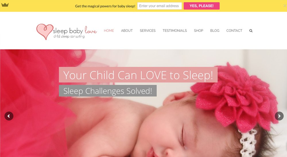 Sleep Baby Love: tema total de WordPress