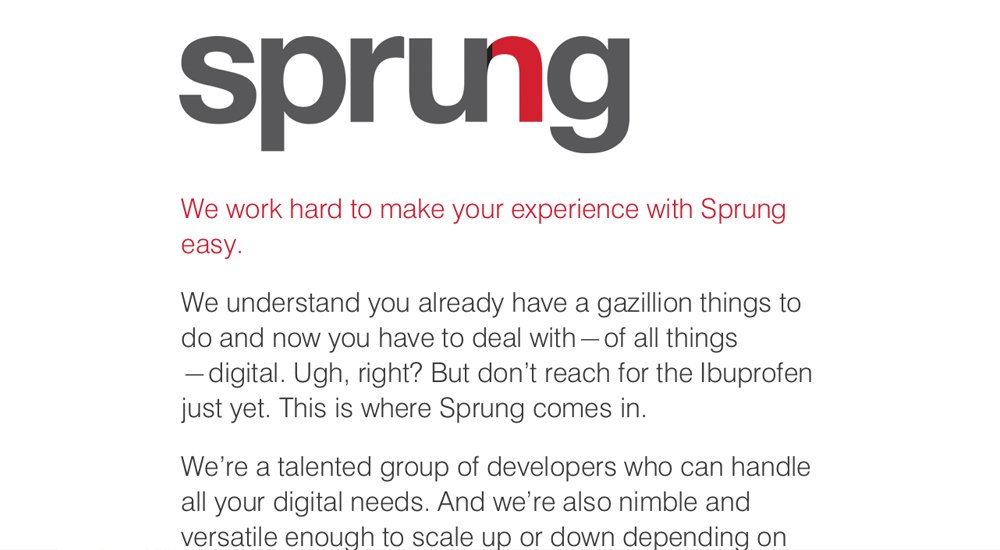 Sprung: tema total de WordPress