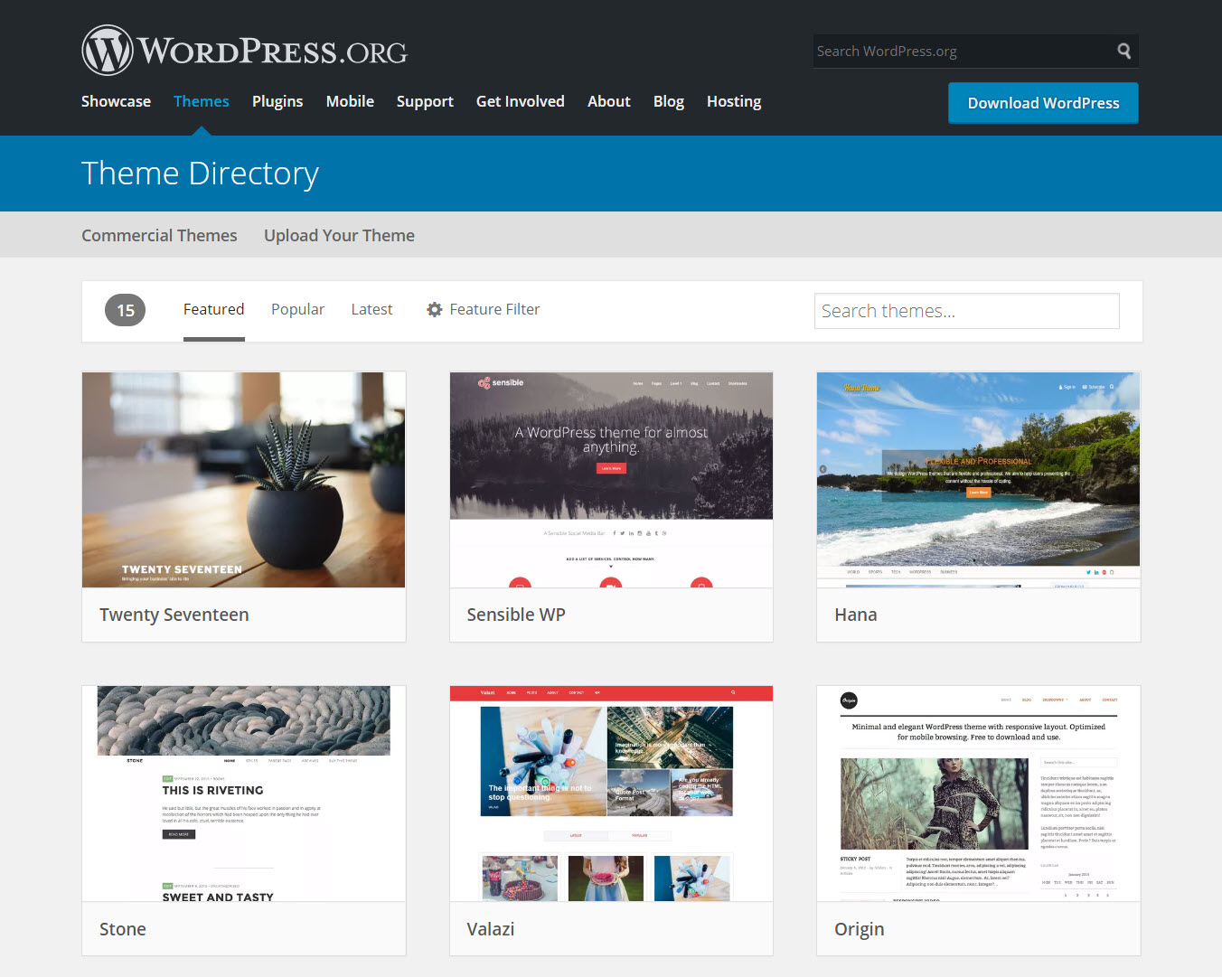 WordPress vs Squarespace: Temas