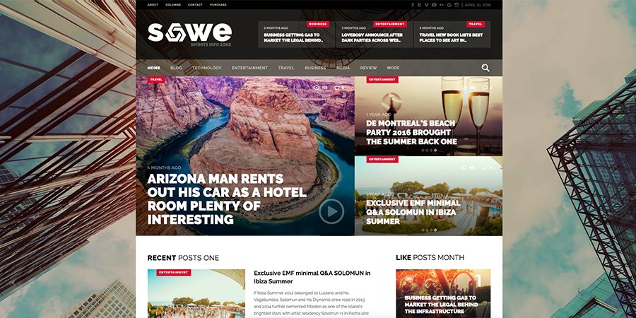 Tema časopisa Sowe Magazine WordPress